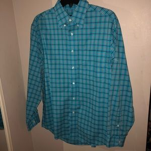 vibrant blue jos. a. bank dress shirt